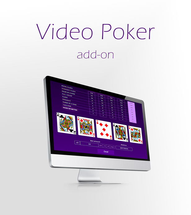 Video Poker Game Add-on for Crypto Casino Download